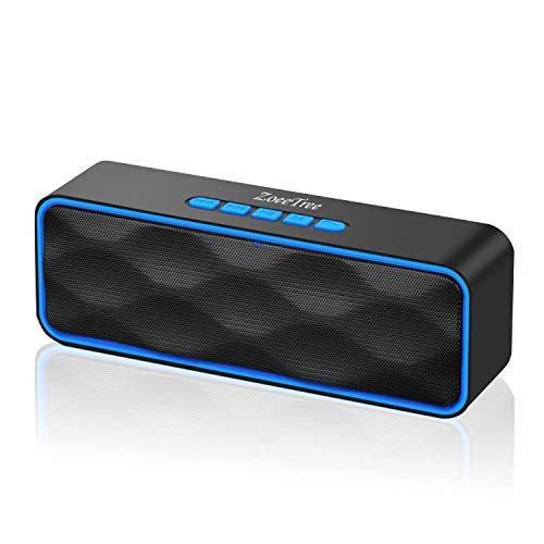 ZoeeTree S1 Wireless Bluetooth Speaker, Portable V4.2+EDR Stereo Speakers with Loud HD Audio and Bass, Built-In Mic, FM Radio, 12H Playtime