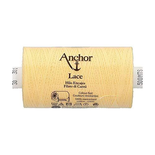 Anchor Klöppelgarn Lace, Stärke: 30, Lauflänge: 500m 301, 3cm x 3cm x 7cm