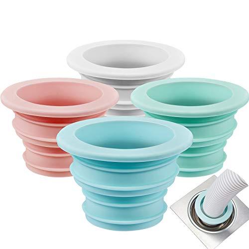 Outus 4 Piezas Anillo de Silicona Desodorante Tapón de Sellado de Lavadora Anillo de Sellado de Tubo de Desagüe para Baño Cocina Herramientas de Limpieza