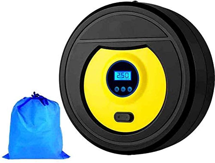 感度祖母強化するポータブルエアコンプレッサー 多機能ポータブルハイパワーデジタルディスプレイ電動車の空気ポンプ付きLEDライト、タイヤの空気ポンプの自動車オートバイ自転車ボール膨らませます (Color : -, Size : -)