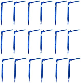 Kangkangk 50pcs/Lot Water Saving Curved Bend Arrow Drip Head Emitter Plants Irrigation Micro Dripper Greenhouse Garden Fit...