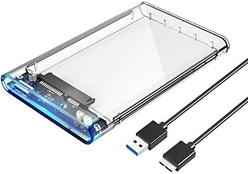 ORICO 2.5 Inch External Hard Drive Enclosure USB 3.0 Transparent Case SATA Reader for 9.5mm & 7mm 2.5' SSD and HDD