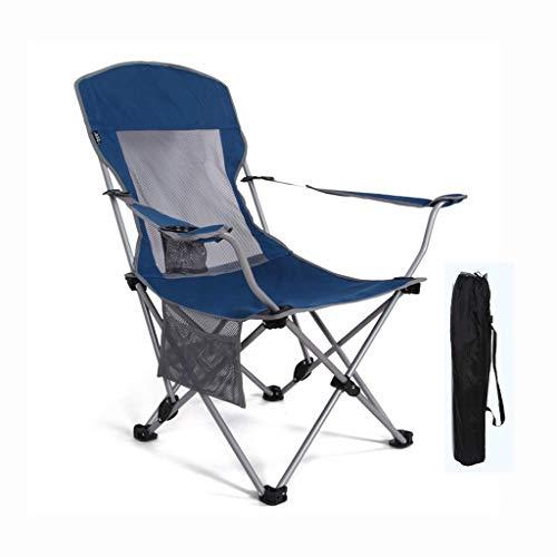WSDSX Silla reclinable Plegable Silla de Camping portátil para Exteriores, Silla de Playa Plegable para Pesca, 2 Archivos Reclinable reclinable para Almuerzo de Ocio con Respaldo Alto Ajustable, 600D
