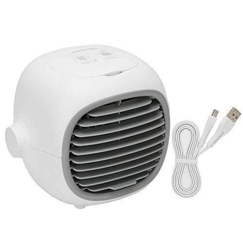 Ventilatore portatile del condizionatore d'aria, mini ventilatore portatile del condizionatore d'aria da tavolo Ventilatore di raffreddamento ad acqua USB ricaricabile per l'home office