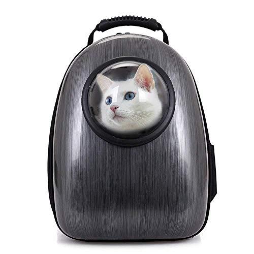 Arlt Waterproof Pet Space Capsule Backpack Pet Wagon Soft Side Pet Bag Breathable Out Or Travel Bag Black