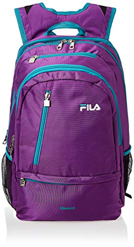 Fila Women s Duel Tablet and Laptop Backpack, Purple Teal, One Size