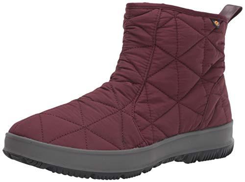 BOGS Women's Snowday Low Waterproof Insulated Winter Snow Boot, Wine, 9 M US