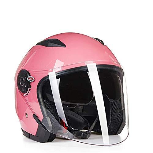ZYW Casco De La Motocicleta De Las Mujeres De Color Abierto Rosado...