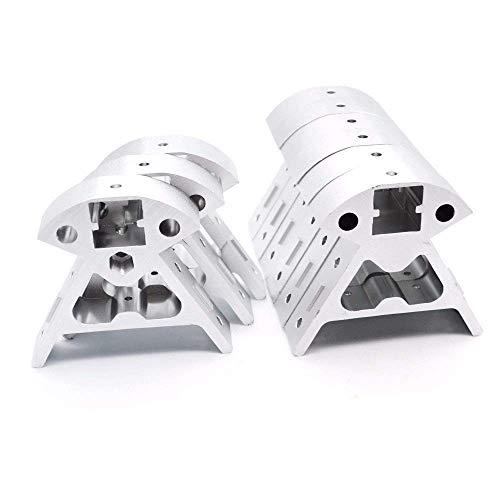 Printer Accessories 9pcs/Set Aluminum Frame Black/Sliver 3 Top+6 Bottom Vertex 2020 All-Metal Profile for Kossel 3D Printer Parts Reprap Corners Delta 3D Printing Accessories (Size : Sliver)