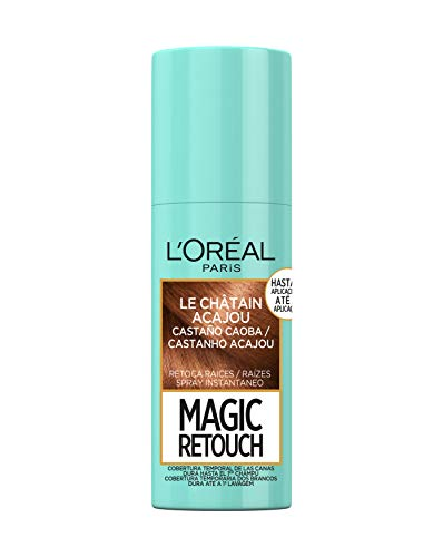 L'Oréal Paris Magic Retouch Spray Retoca Raices y Canas para Pelo Castaño Caoba - 75 ml