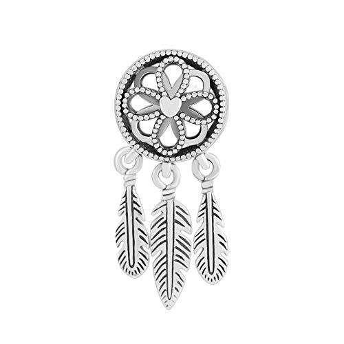 LISHOU Se Adapta A La Pulsera Pandora Argent Charm 925 Sterling Silver Spiritual Dream Catcher Dangle Charms Beads para DIY Women Jewelry Making
