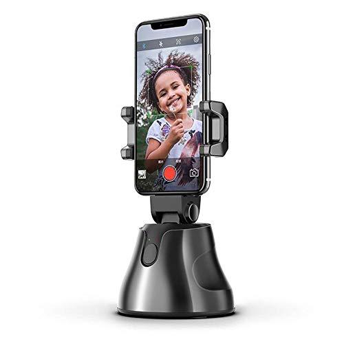 FGKLU Smart Tracking Telefonhalter - Gimbal Stabilisator mit 360° Drehung mit Gesicht Objektverfolgung für Party/Outdoor/Android/Videoaufnahme