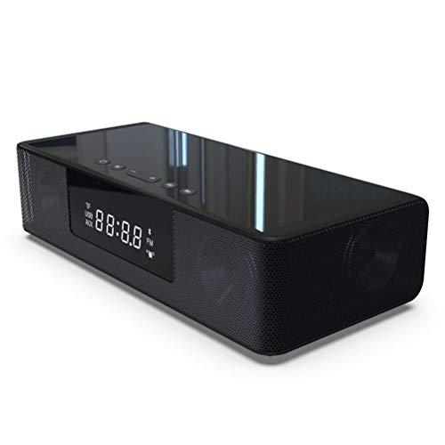 HDDFG Altavoz Bluetooth Inteligente Control Remoto Radio FM Reloj Despertador Dual Funda De Silicona con Pantalla LED 4000mAh Carga Rápida Inalámbrica