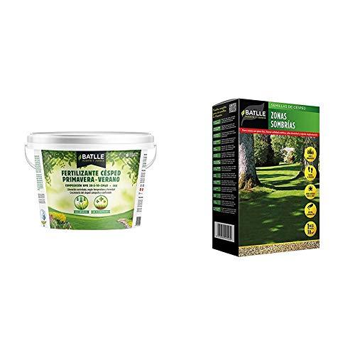 Abonos - Fertilizante Cesped Primavera-Verano Cubo 5kg - Batlle + Semillas de...