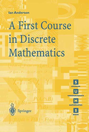 A First Course in Discrete Mathematics (Springer Undergraduate Mathematics Series)