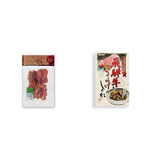 [2点セット] 薫製達人 豚バラベーコン燻製(60g)[飛騨山椒付き]・飛騨牛ときくらげのしぐれ(200g)