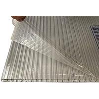 LEXAN® - Placas de Policarbonato Alveolar Celular - 10mm - Protección UV - Para Exteriores - Elige Medidas: (Transparente, 100 x 190 cm - Pack de 6)