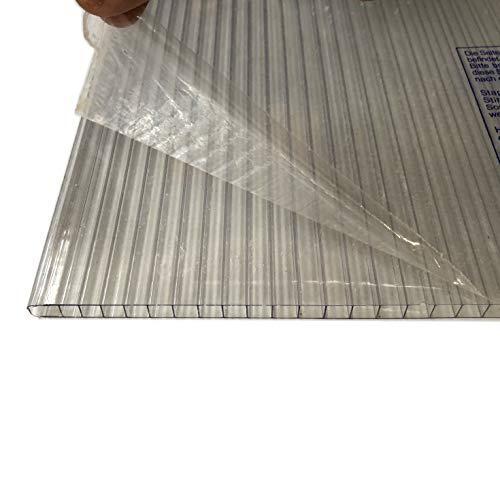 Lexan® platen van polycarbonaat, transparant, dubbelzijdige UV-bescherming. Kies dikte en afmetingen: 6 Placas de 100 x 190 cm Kleurloos