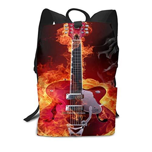 Fire Electric Guitar - Bolsa de viaje unisex para la escuela juvenil, 100% fibra de poliéster (poliéster)