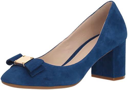 Cole Haan Damen Pump Tali Bow Pumps, Marineblaues Pfingstrosen-Wildleder, 39 EU