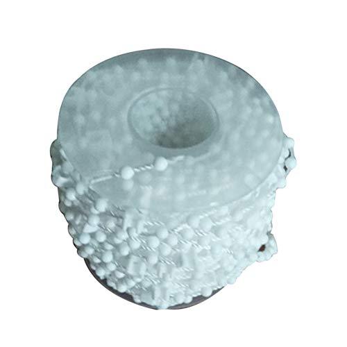 VOSAREA Rollo Ketten Perlen Kette Jalousie Kette Kunststoff Bedienkette 10m (Weiß)