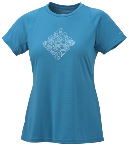 Columbia Silver Ridge Print Short Sleeve Top Tee-shirt multisport femme Oxide Blue S