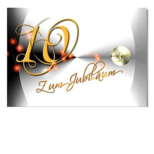 DigitalOase Jubiläumskarte 10. Jahrestag 10. Jubiläum Glückwunschkarte Geburtstagskarte Grußkarte Format DIN A4 A3 Klappkarte PanoramaUmschlag #YANG