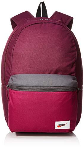 Nike Unisex's Sportswear Heritage Backpack, Bordeaux/True Berry/(Orange Blaze), 45.5 x 33 x 18 cm