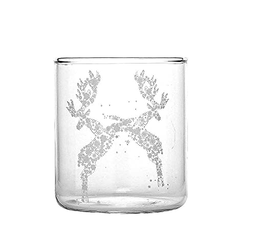Fade Rudolph - Juego de 6 vasos de agua navideños de fino cristal decorado