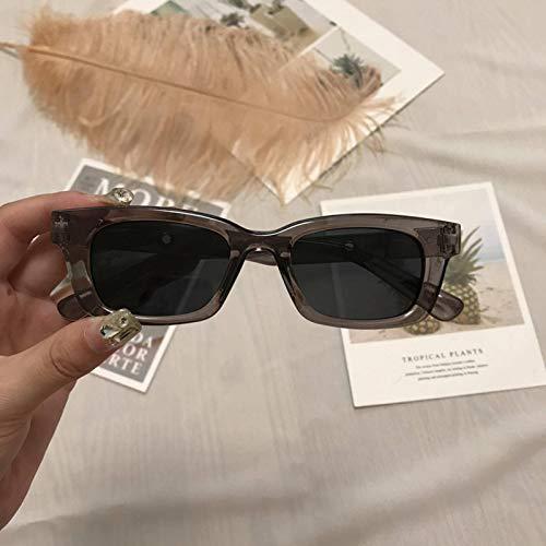 Nya damer rektangulära vintage solglasögon märkesdesigner retro prick solglasögon kvinnliga damer glasögon Cat Eye Driver glasögon