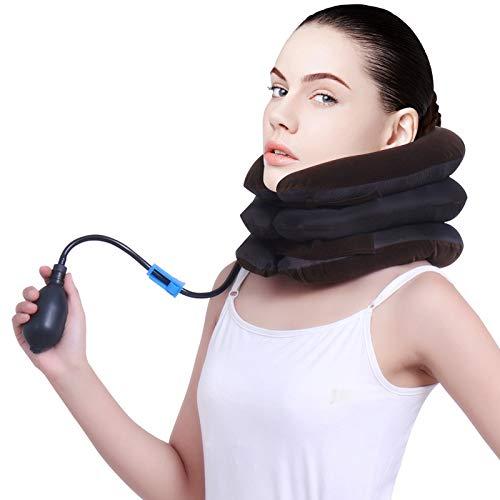 Aufblasbare Cervical Neck Traction, Halskragen/Nackenstütze - Zervikale Traktion Nackenkissen gegen Kopf- und Schulterschmerzen - mit verstellbarer Größe