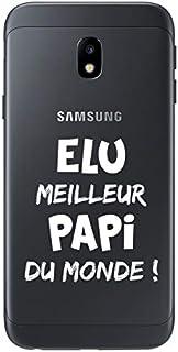 ZOKKO Case for Samsung J3 2017 - World's Best Papi - Transparent - White Ink