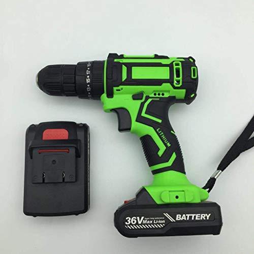 DRHLOOW Draadloze Boor Driver Kit Impact Hammer Boor Set Lithium-Ion Batterij Snelle Oplader Variabele Snelheid platte boor voor Boren Muren, Bakstenen, Hout, Metaal