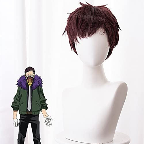 Anime Comic My Hero Academia Cosplay Pelucas Chisaki Kai Overhaul Cosplay Peluca Peluca Sintética Hombres Marrón Pelos Cortos Accesorio De Cosplay