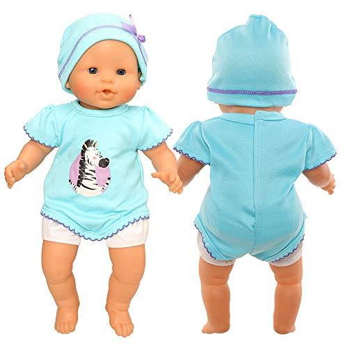 Miunana Vestidos Ropas + Sombrero para 14 - 18 Pulgada Muñeca Bebé 36 - 46 cm (NO Incluye MUÑECA)