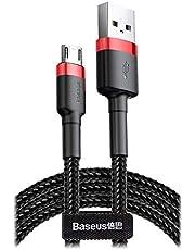 Baseus CAMKLF-B91 Cafule Micro Kablo, 2.4A, 1M, Kırmızı, Siyah