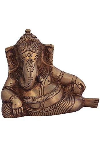 Exotic India Moments de détente Ganesh – Laiton – Sculpture