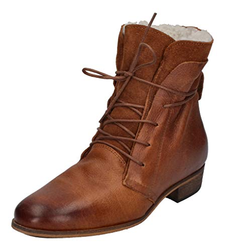 haghe by HUB Damen Stiefeletten - Hally Wool L17- Cognac, Größe:41 EU