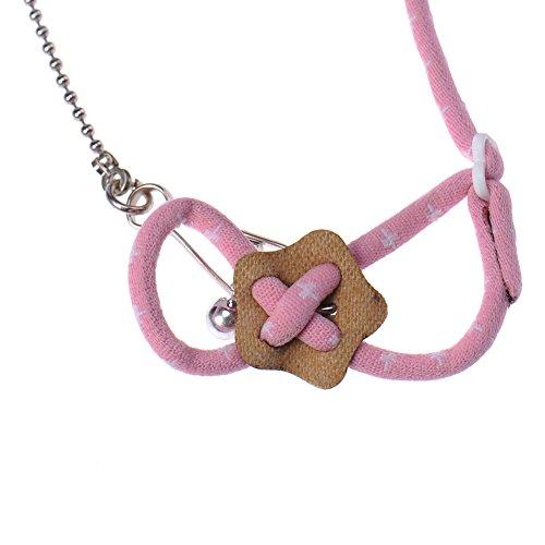 Arnés de hámster ajustable para hámster, jerbo, para mascotas, arnés de arnés de perro pequeño roedor, chinchillas y ardilla (rosa)