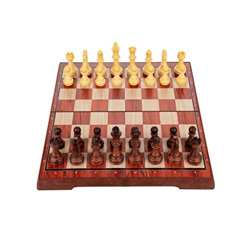 Aocean Juego de ajedrez Juegos l Adultos Niños Tablero de ajedrez Ajedrez magnético con Tablero de ajedrez Plegable Juguetes educativos para niños y Adultos Contiene Bolsa de Franela Ajedrez