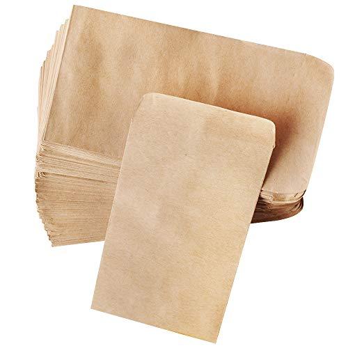 Gudotra 100pz Sacchetti di Carta Kraft 10x6cm Bustine per Confetti Semi Petali di Fiori Gioielli Matrimonio Calendario dell'Avvento Natale