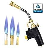 SEAAN MAPP Antorcha de propano Disparador multipropósito Iniciar la antorcha de propano con 3 boquillas/puntas, cilindros de gas no incluidos