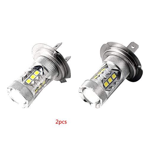 ELENXS 1pair 80W LED Bleu Super Bright H7 8000K 2828 Ampoule LED pour Feux de Croisement de phares DRL
