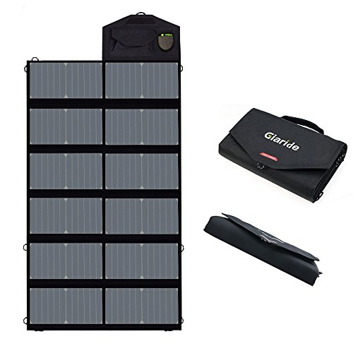 GIARIDE Foldable Solar Panel USB/DC Solar Panel Charger 18V Portable Solar Panel 80W for Laptop Solar Battery Charger for Camping Portable Solar Panels for Rv Portable Solar Charger for Car Battery