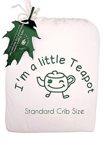 I's A Little Teapot Organic Cotton Crib Matratzenschutzpolster Produktbild