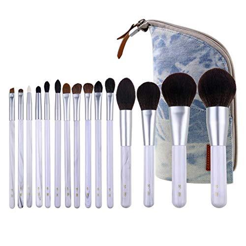 Pinceau de maquillage GCX- 15 Paquets de, Les Cheveux Doux, Doux en Poudre, Fard à paupières Brosse, Brosse de Maquillage Professionnel Beau