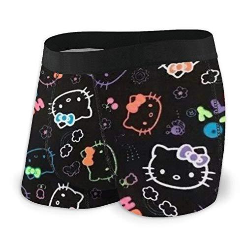DWEO0JDWK Black Hello Kitty Herren Cotton Boxershorts 2 Pack-Large Black