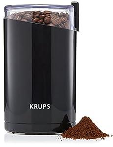 Krups F2034238 Fast Touch Molinillo de café y especias, 200 W, Plástico, Negro