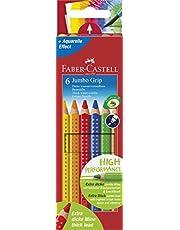 Faber-Castell 5170110906 Jumbo Grip Boya Kalemi, 6 Renk