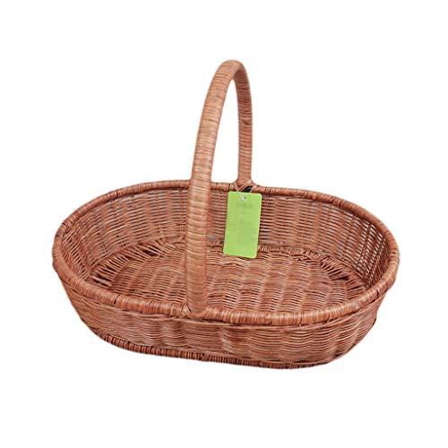 Hogar y cocina Cestas de Picnic Excursión al aire libre Tejidos a mano Vid Bamboo Picnic Baskets Inicio Camping portátil Compras Colgar Almacenamiento Canastas de regalo Cajas y cofres Exterior y Picn